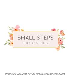 premade watercolor flower logo | angiemakes.com