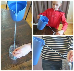 Relentlessly Fun, Deceptively Educational: Pouring Water Down a String (Science Experiment)