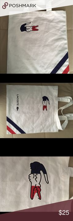 Lacoste shopping bag Lacoste shopping bag. About '15 x '13.5 Lacoste Other