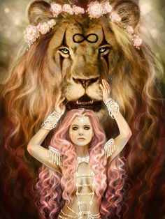 Weekly Tarot Guidance – January 16 through 2017 « Tarot by Cecelia Dark Fantasy Art, Fantasy Artwork, Fantasy Girl, Strength Tarot, Inner Strength, Arte Fashion, Lion Love, Lion Pictures, Lion Art