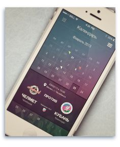 "Hockey Club ""Kuban"" mobile app ios7 by Maxim Sorokin, via Behance"