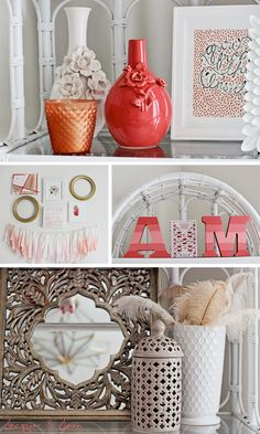 Coral Nursery Decor in a Flamingo-Inspired Nursery