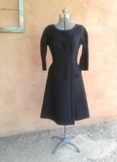 Vintage 1950s Black Dress Suzy Perette B38 W28 US10 by bycinbyhand, $165.00
