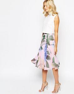 453f93e629cf00 Ted Baker Skirt in Distinguishing Rose Print at asos.com
