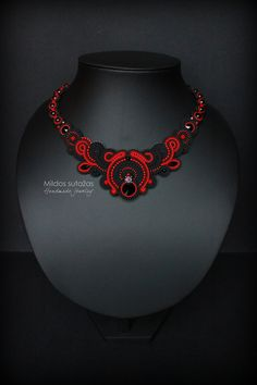 Handmade soutache necklace.  If Youve got any questions - feel free to contact me.