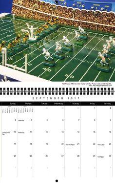 "<img alt=""2017 Full Color Electric Football Calendar Tudor NFL 510 Colts Packers"">"