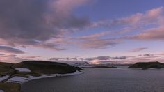 waiting for the night to fall - One of these wonderful sunsets at lake Mývatn... Photography by EsmeraldaTunichtgut