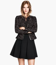 H&M Textured Skirt in Black, £24.99 and Jacket in Black, £34.99