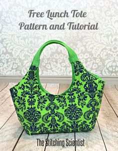 Sew a stylish lunch tote with this FREE printable pattern and instructions by The Stitching Scientist.