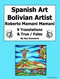 Spanish Art - Roberto Mamani Mamani Cochabamba Bolivia 9 Translations Vocabulary Practice, Spanish Vocabulary, Grammar And Vocabulary, Hispanic Art, Hispanic Heritage Month, Spanish Art, Foreign Language, Learning Spanish, Bolivia