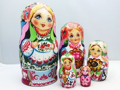 New collection of our hand painted russian dolls-Matryoshkas > www.matrioskas.es