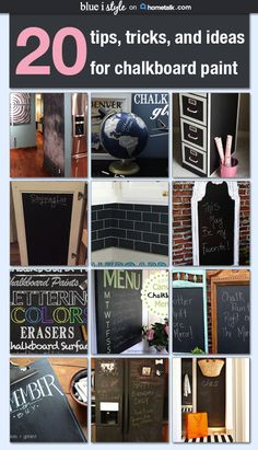 20 tips, tricks and ideas for chalkboard paint
