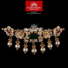 Stunning gold vanki designs by Kameswari Jewellers. Shop online from one of the foremost South India's traditional jewellers. Real Gold Jewelry, Gold Jewelry Simple, Gold Jewellery, Ruby Jewelry, Indian Jewelry, Bridal Jewelry, Jewlery, Jewelry Necklaces, Gold Necklace Simple