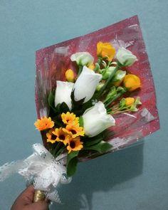 My first flower bouquet  #learn #graduationbouquet