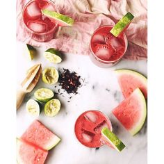 This long holiday weekend calls for something real refreshing! Watermelon Hibiscus Lime Coolers for…