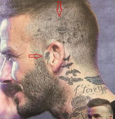 Yes – two new … on the head and on ear … Yes, two new ones … on the head and the ear Beckham Neue Tattoos, Hand Tattoos, Girl Tattoos, Sleeve Tattoos, Tattoo Ink, Side Neck Tattoo, Neck Tattoo For Guys, Tattoos For Guys, Tattoo Beckham