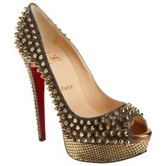Christian Louboutin spiked peep toe heels!!!! A must for summer!!!