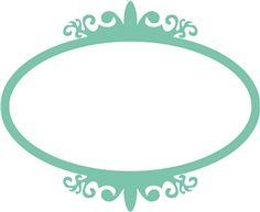 View Design: antique oval frame