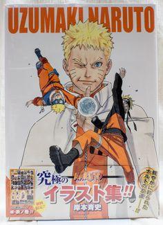 Uzumaki Naruto Illustration Art Book w/Sticker JAPAN ANIME MANGA JUMP
