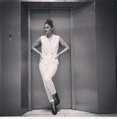 Elevator #WHITE. #jumpsuits #BSB_collection #total_white Al White, Elevator, Jumpsuits, Statue, Celebrities, How To Wear, Collection, Fashion, Overalls