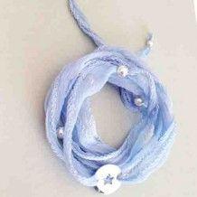 Bracelet Little Star Bleu ciel