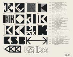 Eric Carl Collection of vintage logos from a edition of the book World of Logotypes jpg Logos Basel, Identity Design, Logo Design, Graphic Design, Trademark Symbol, K Logos, Eye Logo, Logo Shapes, Print Logo