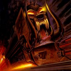 """Motorhead, """"Orgasmatron""""  """"No force on Earth can stop me now -  I'd like to see them try!"""""""