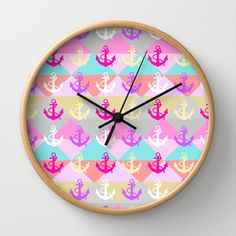 Anchors Wall Clock by Ornaart - $30.00