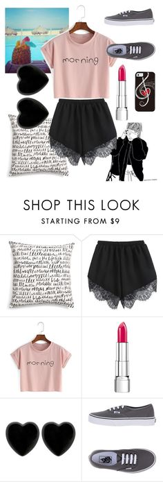 """Morning"" by sarahwuzhere on Polyvore featuring Kate Spade, Rimmel, Dollydagger and Vans"