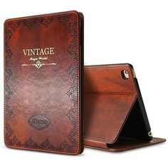 New iPad 2017 iPad 9.7 inch Case, Miniko(TM) Modern Vintage Book Style... ($19) ❤ liked on Polyvore featuring accessories and tech accessories
