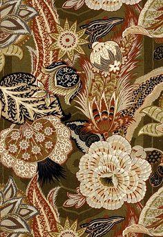 FSchumacher Fabric 173522 Zanzibar Linen Print Sandalwood