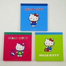 39b0da781 Rare Sanrio Hello Kitty Memo Pad Notebook LOT Set Japan Stationery Kawaii  1999 #Sanrio