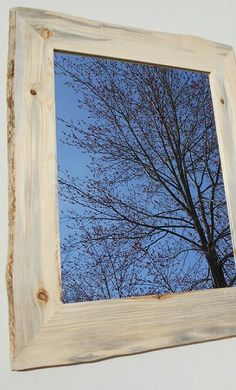 Rustic Framed Mirror  Red Pine Wall Mirror  by AlongtheRidge, $125.00