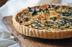Tart with #Zucchini and Swiss Chard 15 #Vegetable Tart #Recipes | Yummy Recipes
