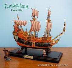 #Disneyland, Kevin Kidney, Fantasyland, pirate, ship, boat, sailing, model ship