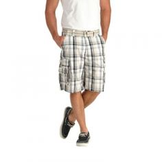 Lee Mens Wyoming Cargo Shorts - Blue Plaid - Mills Fleet Farm
