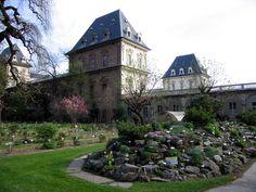 L'Orto Botanico di Torino con il Castello del Valentino
