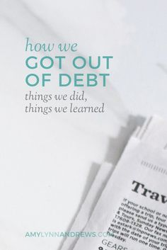Feeling discouraged about your debt? It took us forever to become debt free. This is our story...