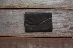 vintage brown scallop clutch via etsy
