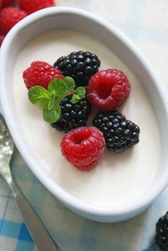 Berry Buttermilk Panna Cotta