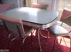 Tavolo formica ~ Green formica table chairs vintage formica table