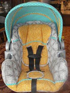Re-cover your old car seat!