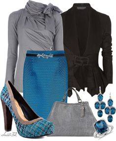 "Very pretty, but without the jewelry ""Tweed Shoes"" by christa72 on Polyvore"