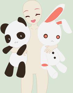 holding g poke toys panda holding puff
