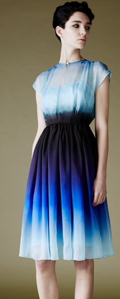 blue ombre dress- I like the ombré look and proportion on this one.