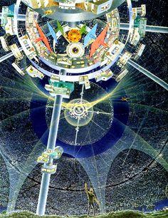 Recreational Low Gravity Center of a Bernal Sphere World.  #BernalSphere  #ArtificialWorld  #SpaceColony