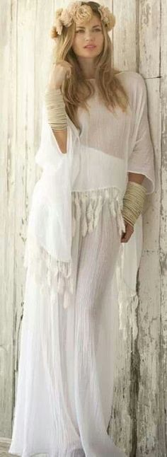 7bd106d2e4 boho hippie beach wedding dress - so pretty