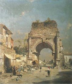 View Gateway to Naples by Franz Richard Unterberger on artnet. Browse upcoming and past auction lots by Franz Richard Unterberger. Ancient Greek Architecture, Historical Architecture, Watercolor Landscape, Landscape Paintings, Landscapes, Arch Of Titus, Environment Painting, Rome Antique, European Paintings
