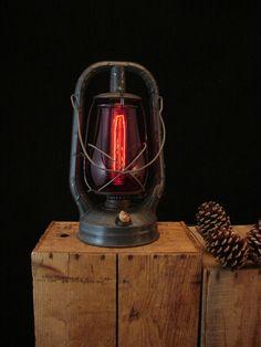 Upcycled Vintage Dietz Kerosene Lantern by BenclifDesigns on Etsy, $129.00