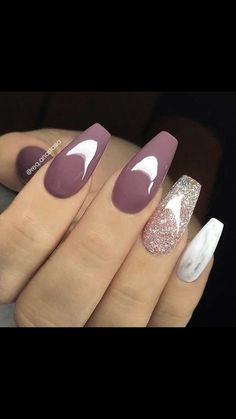 37 Pretty Nail Designs Ideas For Spring Winter Summer And Fa.- 37 Pretty Nail Designs Ideas For Spring Winter Summer And Fall For the past couple of seasons, gray continues to be a popular color for manicures and pedicures. Pretty Nail Designs, Acrylic Nail Designs, Nail Art Designs, Nails Design, Dark Nail Designs, Marble Nail Designs, Elegant Nail Designs, Elegant Nails, Cute Acrylic Nails